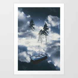 Forest sailing Art Print