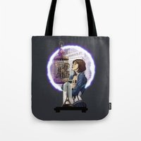 bioshock infinite Tote Bags featuring Bioshock Infinite: Freedom  by Daydreams and Giggles Studios