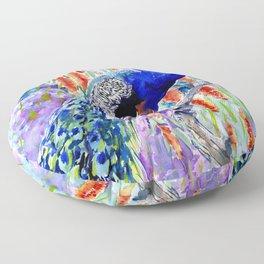 Peacock Floor Pillow