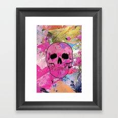 Skull collage Framed Art Print