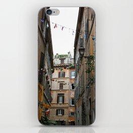 An alleyway in Rome. iPhone Skin