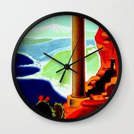 Vintage Taormina Italy Travel Wall Clock