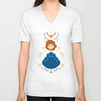 nausicaa V-neck T-shirts featuring Wind Valley by Ashley Hay