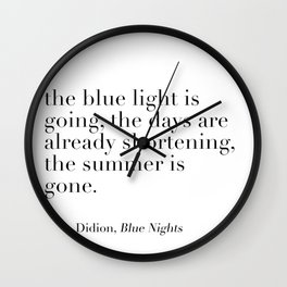 Joan Didion autumn quote Wall Clock