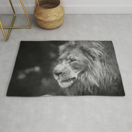 King Of The Jungle (B&W digital painting) Rug