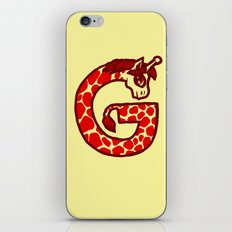 G is for Giraffe iPhone Skin