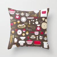 Teatime Treat Throw Pillow