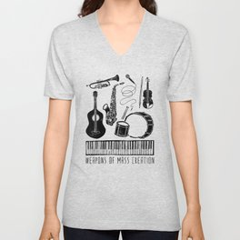 Weapons Of Mass Creation - Music Unisex V-Neck