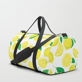 Lemons, tropical pattern Duffle Bag
