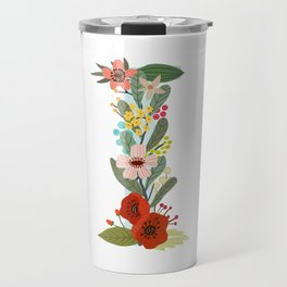 Monogram Letter I Travel Mug
