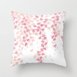 Bougainvillea Floral Vines Throw Pillow