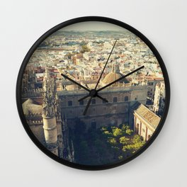 Seville - Skyline & Rooftops Wall Clock