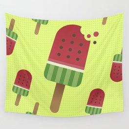 Watermelon Ice Pop Wall Tapestry