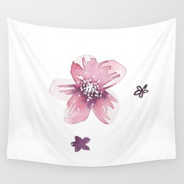 Lilac Pink Watercolour Fiordland Flower Wall Tapestry