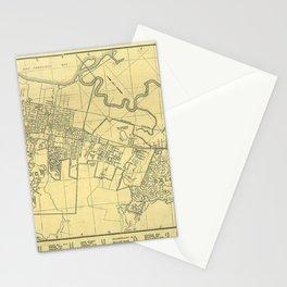 San Mateo, Burlingame, Hillsborough, San Carlos, Belmont Map 1938 Stationery Cards
