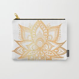 Gold Lotus Flower Carry-All Pouch
