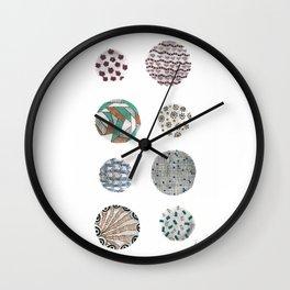 Colorful Circle Doodles Wall Clock