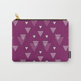 Geometric Triangles in Fuchsia Pink Carry-All Pouch