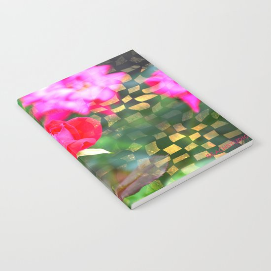Checkered Rose Notebook
