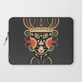 Ceremonial Tribal Mask Laptop Sleeve