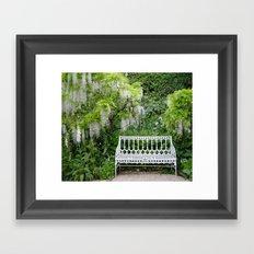 White Rain Framed Art Print