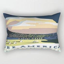 Vintage poster - Montana Rectangular Pillow