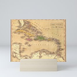 Map Of The Caribbean 1828 Mini Art Print