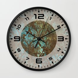 Aged Damask Texture 4 Wall Clock