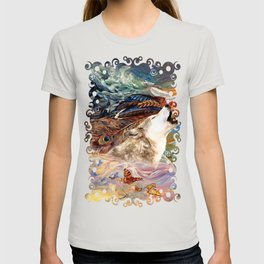 The spirit Wolf Abstract T-shirt