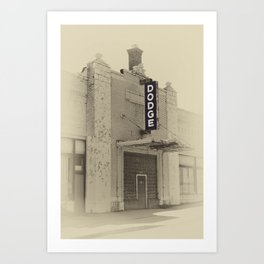 Early Dodge Dealership with Sign Art Print