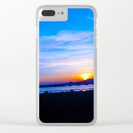 Macau Sunset Clear iPhone Case