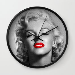A female mouth - Marylin M. Wall Clock