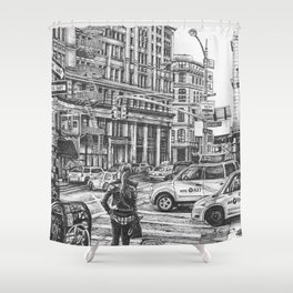 New York Taxis Shower Curtain