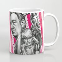 house of cards Mugs featuring Two Kinds Of Pain - House Of Cards by Renato Cunha