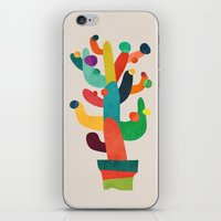 cactus iPhone & iPod Skins featuring Whimsical Cactus by Picomodi