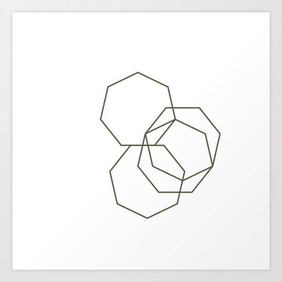 #313 Stone shadows – Geometry Daily Art Print
