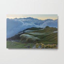 The Alpine Pastures of Rudranath Metal Print
