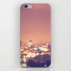 Everyone's a Star. Los Angeles skyline at night photograph. iPhone & iPod Skin
