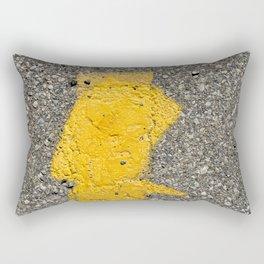 Urban Texture Photography - Yellow Road Markings Rectangular Pillow