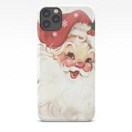 Red retro vintage Santa iPhone Case