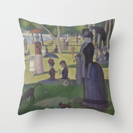 A Sunday on La Grande Jatte,  Georges Seurat Throw Pillow