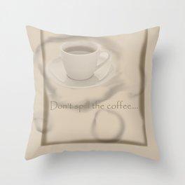 Coffee Stains Throw Pillow