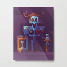 Skeleton Type Metal Print