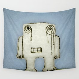 Sad Monster Baby Crying Wall Tapestry