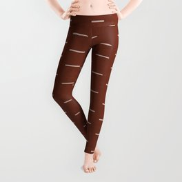 Rust Mud Cloth 3 Leggings