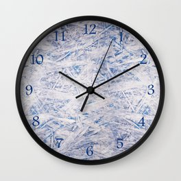 Blue chipboard texture abstract Wall Clock