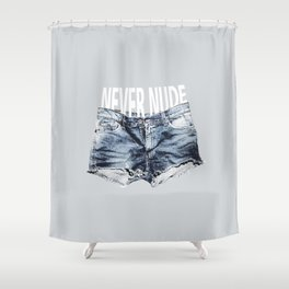 Never Nude Tobias Funke Shower Curtain