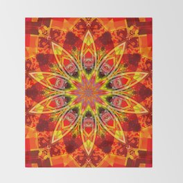 Friendship Star Traditional Quilt Pattern Throw Blanket