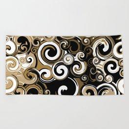 Coffee Swirls Beach Towel