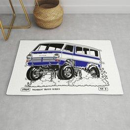 1969 GASSER VAN – Rev 2 BLUE Rug